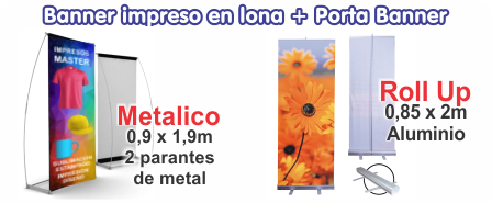 Banners con porta banners, banners de pie